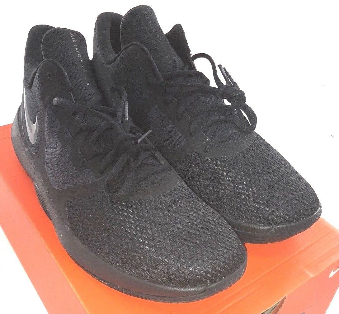 NIKE Air Precision II  AA7069-002  Men's Basketball shoes Black NEW  8.5 & 10.5 M