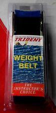 """Scuba diving weight belt dive equipment Trident BLUE 58""""x2"""" webbing dredging fun"""