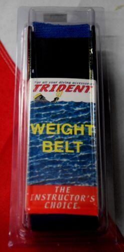 """Scuba diving weight belt dive equipment Trident BLUE 58/""""x2/"""" webbing dredging fun"""