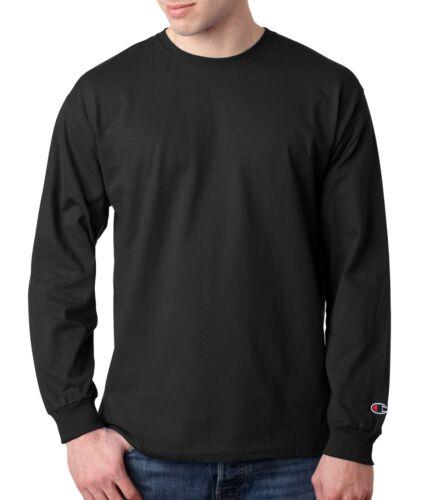 Champion Men/'s 100/% Cotton Crewneck Long-Sleeve Solid Athletic T-Shirt CC8C