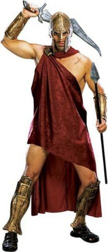 Mens Adult 300 Movie Deluxe SPARTAN Warrior Costume