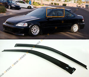 1996 2000 honda civic coupe hatchback jdm smoke tinted for 1997 honda civic window handle