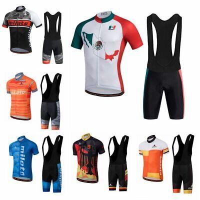 Mens Bike Cycling Jerseys Sets Bib Shorts Breathable Clothing