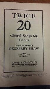 Details about Twice 20 Choral Songs For Choirs: Vocal Music Score