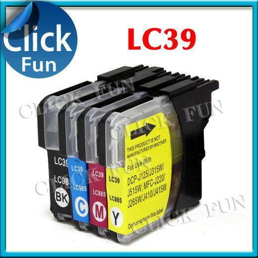 22x Ink Cartridge LC39 LC985 for Brother MFC J410 DCP J125 J315W J515W Printer