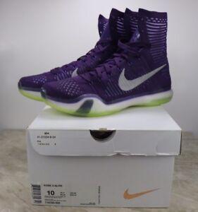 c6860031ceb6 Nike Kobe X 10 Elite Grand Purple Reflect Silver Volt Mens Size 10 ...