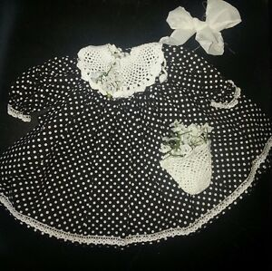 Orchidee-Puppenmode Mini Kleid  für 20 cm Puppe od Bär
