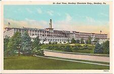 East View of Hershey Chocolate Corp. in Hershey PA Postcard
