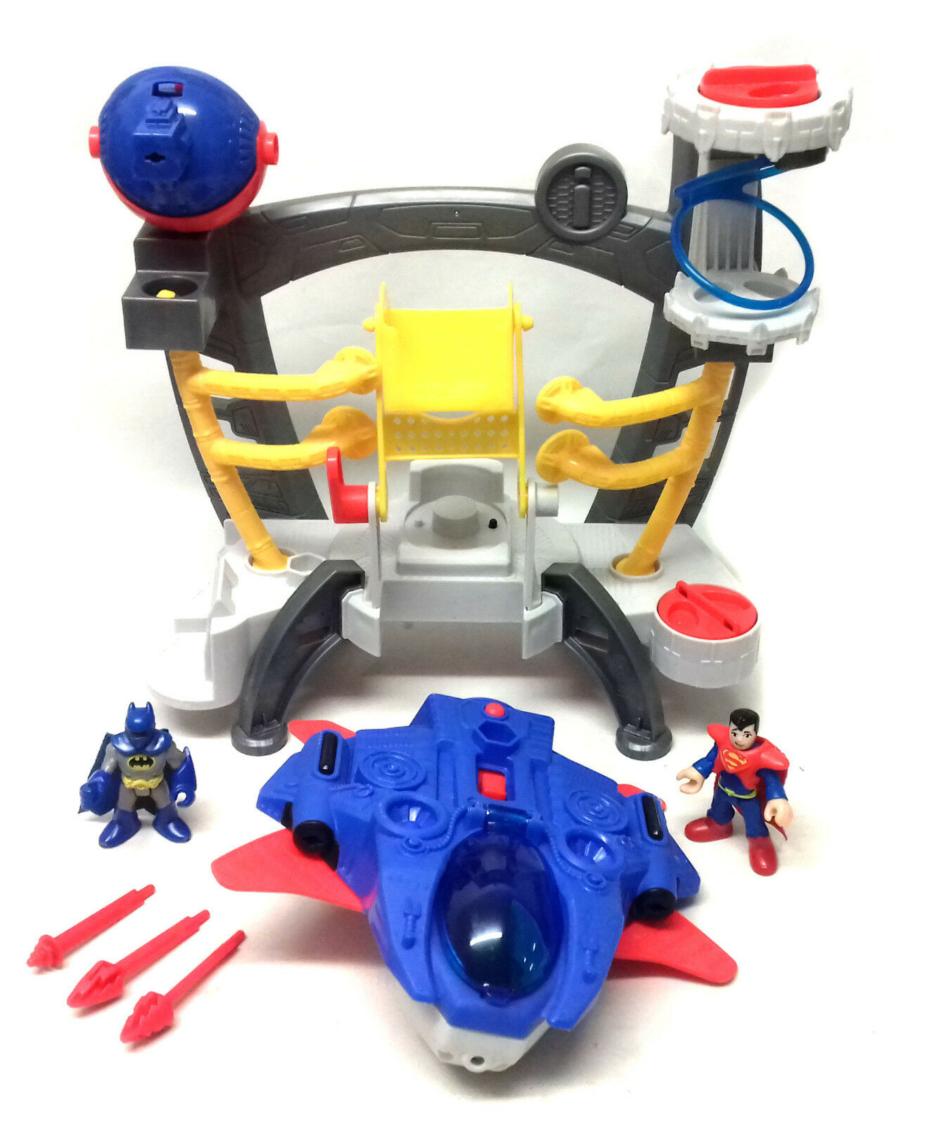 Fisher Price toys Imaginext DC Batman Superman Space ship playset with FIGURES