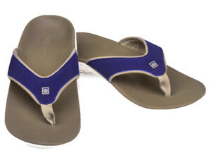 Spenco-Yumi-Orthotic-Flip-Flops-Medieval-Blue-Men-s-Size-7-NWT-Total-Support