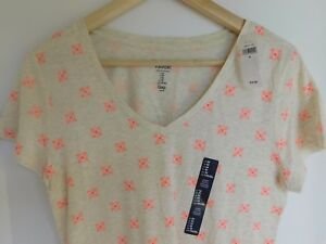 NWT-GAP-Small-Women-039-s-Favorite-V-Neck-T-Shirt-Oatmeal-Pink-S-M-XL-NEW-Free-Ship