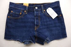 New-Levi-039-s-Womens-501-0045-Straight-Leg-Button-Fly-Cut-Off-Jean-Shorts-Size-27