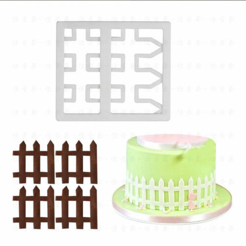 Practical Embossing Fence Gate Shape Cake Mold 3D DIY Chocolate Cookie Making