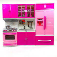 Kitchen Play Set Toy For Children,Barbie Doll Play Kitchen Toy, Battery Operate