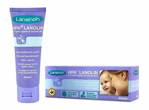 Lansinoh HPA Lanolin Sore Nipples Cream 40ml - 2 Pack 689015038484