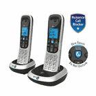 BT 086902 2200 Nuisance Call Blocker Cordless Phone & Twin Handset - Silver/Black