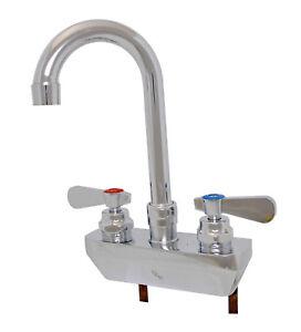 "BK Resources OptiFlow BKF-4SM2-XX-G 4"" Splash Wall Mount Lead Free Faucet"
