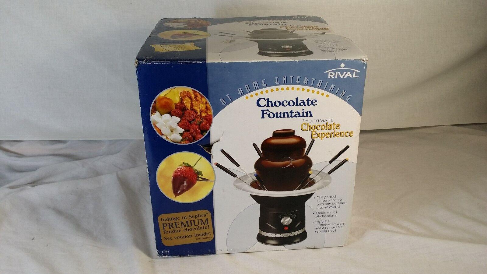 Nouveau Rival Fondue Au Chocolat Fontaine CFF4 deux niveaux 2-Pound-Capacité
