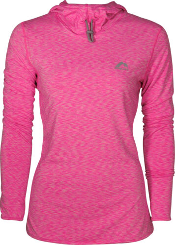 More Mile Rad femme en polaire à capuche Rose Léger Gym Running Training Sweat à capuche
