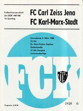 OL 87/88 FC Karl-Marx-Stadt - FC Carl Zeiss Jena