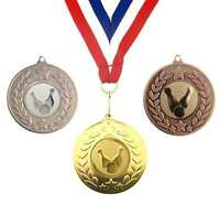 TEN PIN BOWLING MEDALS 50mm GOLD SILVER BRONZE AWARD FREE RIBBON RED WHITE BLUE