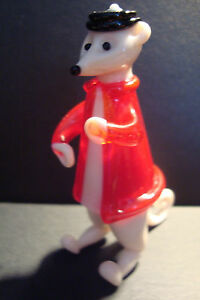 Genuine-Handmade-Spun-Glass-Meerkat-2-Figure-Ornament-Animal-Boxed-uk-seller