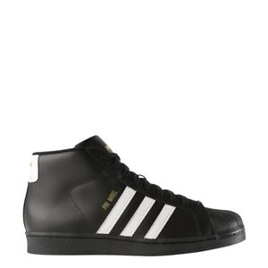 sports shoes 52402 cf1f2 ... Adidas Pro Model Hi Top Black White For Men New In Box B39368 100%  Original