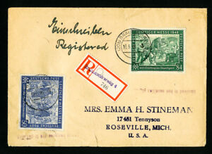 Germany Stamps registered cover allied occupation