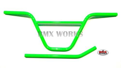 "ProBMX Green BMX Seat Post /& Ch-Mo Handlebars 9.25/"" Rise x 29.5/"" Wide"
