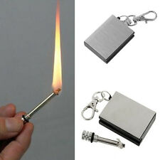 1PC Stainless Steel Permanent Fire Metal Waterproof Matches Lighter Hot Sale