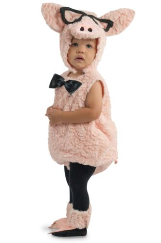 Premium Hipster Pink Pig w// Glasses Infant Baby Child Costume NEW