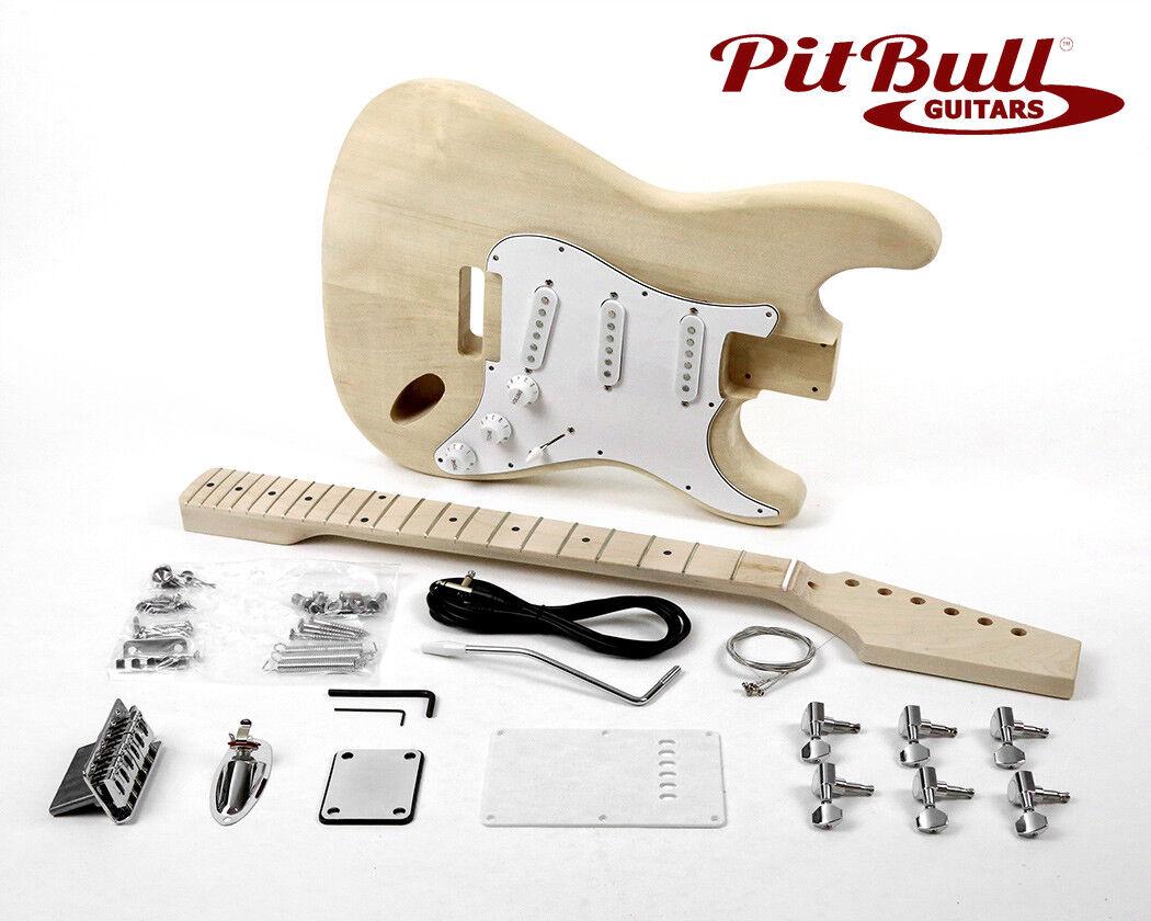 Pit Bull Guitars ST-1M Electric Guitar Kit (Maple Fretboard)