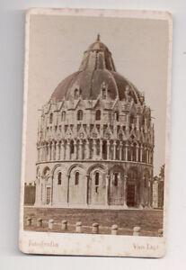 Vintage-CDV-The-Pisa-Baptistery-of-St-John-Van-Lint-Photo-P-sa-Italy