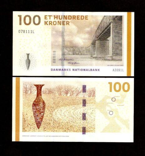DENMARK 100 KRONER P66 2009 BRIDGE UNC GREENLAND WORLD CURRENCY MONEY BILL NOTE