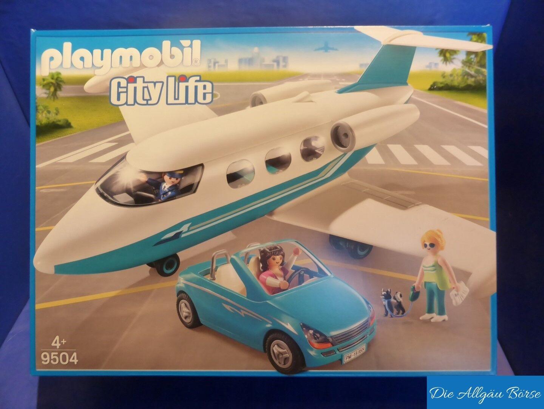 vendita calda PLAYMOBIL 9504 jet privato M. Cabrio Cabrio Cabrio EXCLUSIV-Set città Life AEREO JET NUOVO OVP  buon prezzo