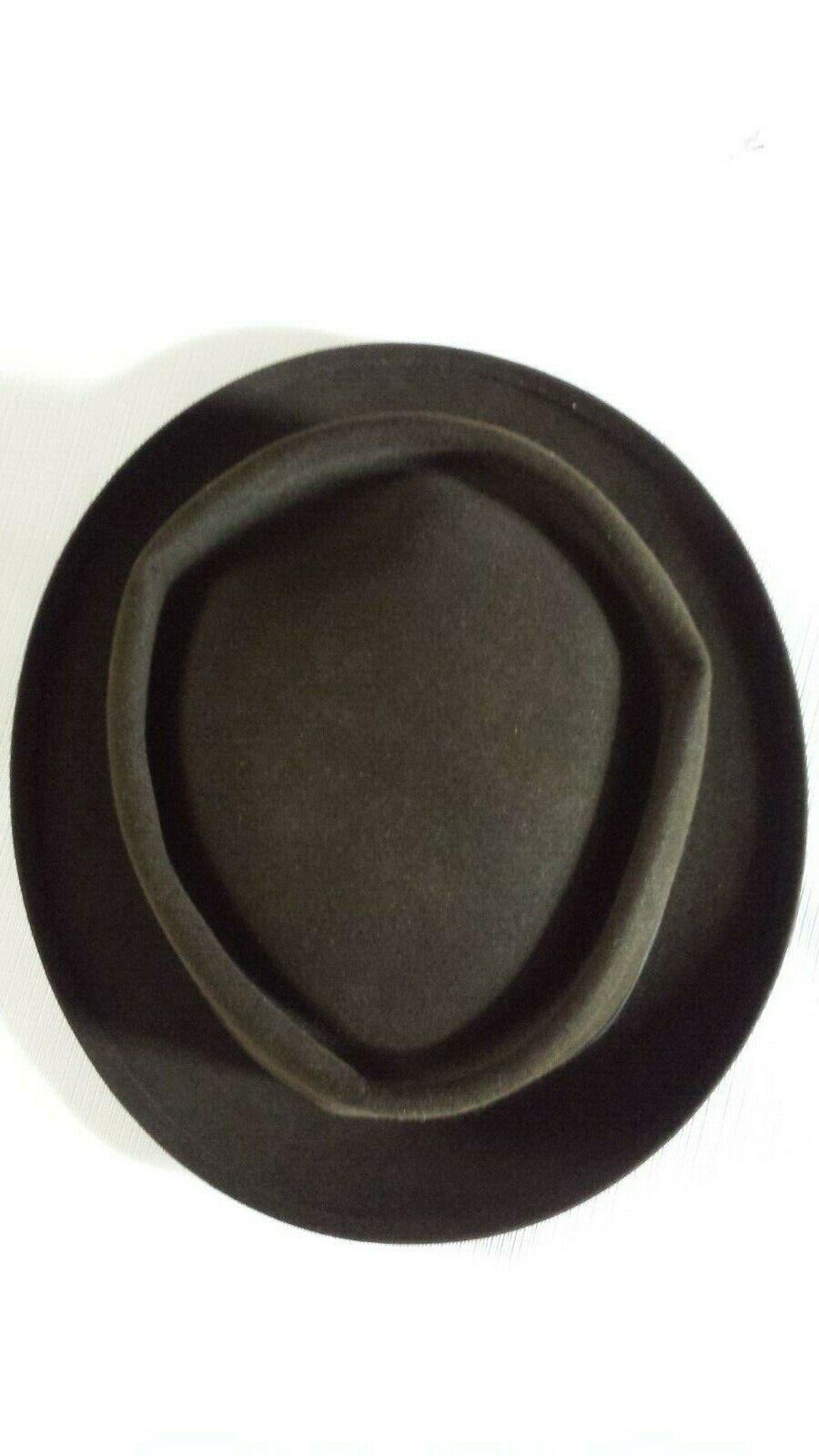 Vintage Mallory Pork Pie Style Felt Hat Size 7 1/8 - image 5