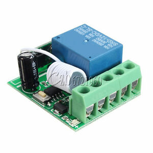 Wireless Remote Control 433MHZ DC 12V 1 Channel Relay Remote Switch