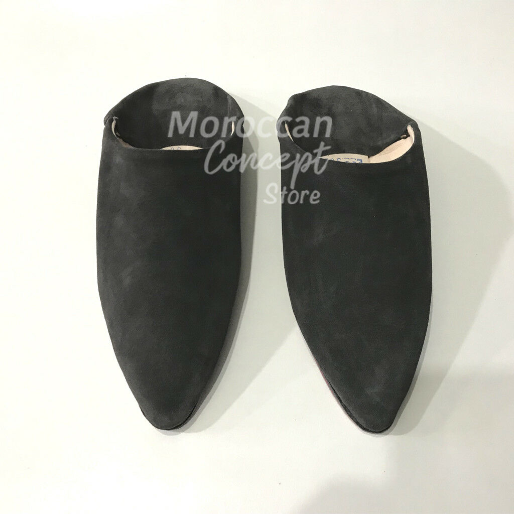 Mgoldccan Leather Babouche Slippers - Suede - Unisex High Quality