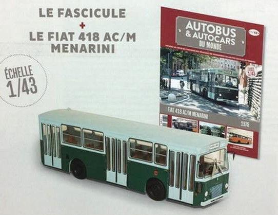 Bus Fiat Fiat Fiat 418 AC M Menarini 1975 1 43 New & Box diecast model 126c84