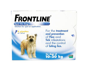 Frontline-Spot-On-Flea-Tick-Lice-Treatment-6-pipettes-Medium-Dogs-10-20Kg