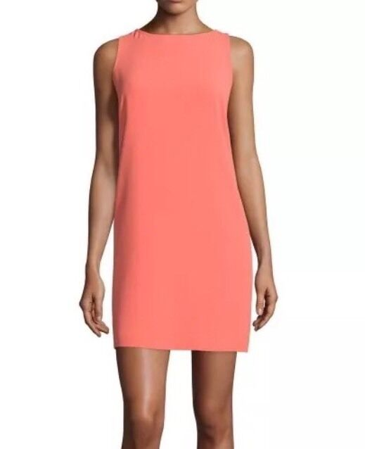 TRINA TURK Corail sans hommeches dos ouvert Shift Robe Taille 2 248
