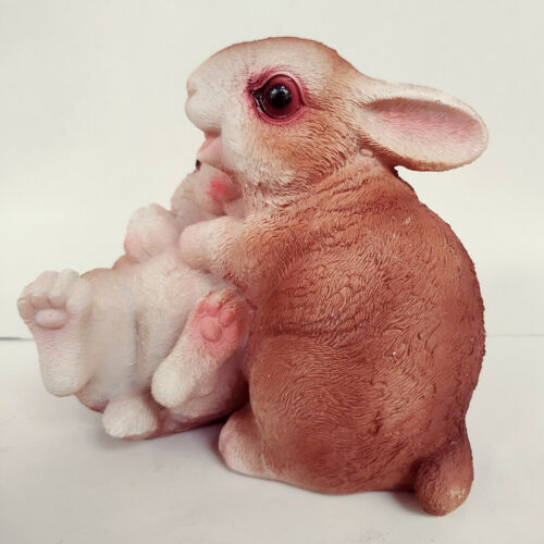 Cute Patio Rabbit Bunny Figurine Statue Terrace Figurine Outdoor Lawn Decor
