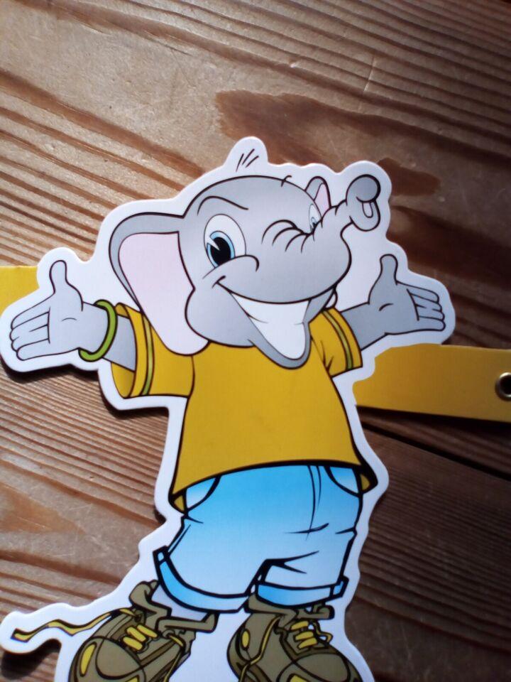 Vægdekoration, MALACO-elefanter i snor...NY