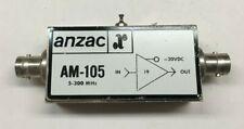 Anzac Rf Amplifier Model Am 105 5 300 Mhz 20vdc Bnc 19db