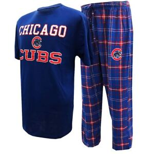 Chicago Cubs Pajamas MLB Men s Halftime Shirt   Pants Sleep Set  f0b28314a