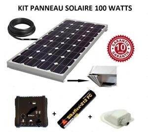 Kit panneau solaire 100 watt 12 V monocristallin pour camping car