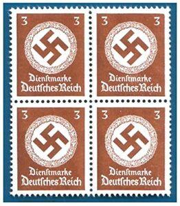 RARE-MNH-BLOCK-of-4-WW2-NAZI-SWASTIKA-STAMPS-BUY-2-GET-SHEET-OF-8-BUY-3-GET-12