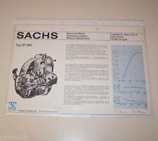 Typenblatt / Technische Daten Sachs Stationär Motor ST 282 - Stand 1974!