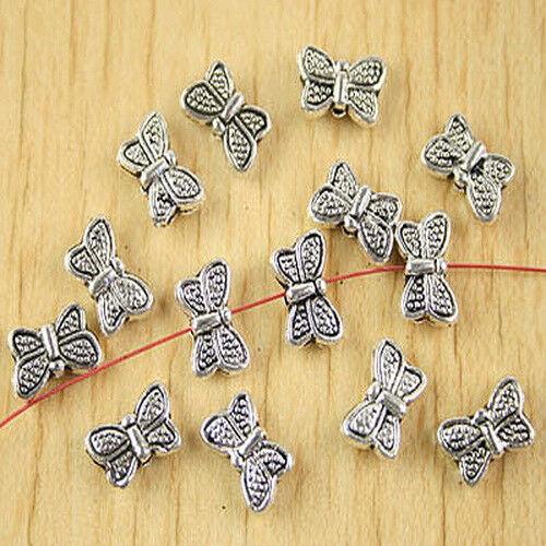 35pcs Tibetan silver butterfly spacer beads H2703