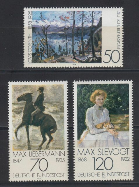 Germany Bund BRD 1978 Mi 986/88 ** Gemälde Paintings Corinth Liebermann Slevogt